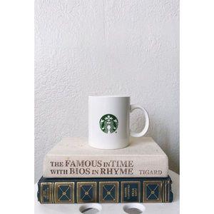 STARBUCKS white mug NWOT